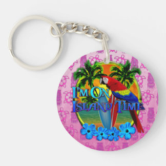 Island Time Surfing Key Chain