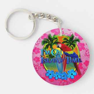 Island Time Surfing Acrylic Keychains