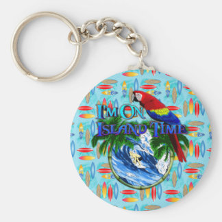 Island Time Surfing Key Chains