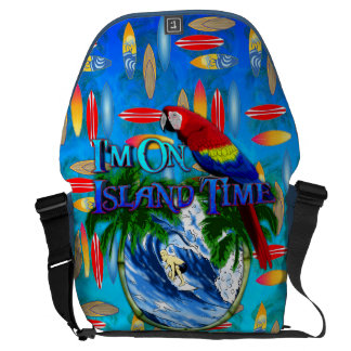 Island Time Surfing Messenger Bag
