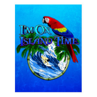 Island Time Surfing Postcard