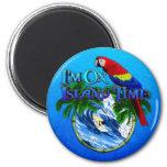 Island Time Surfing Refrigerator Magnet