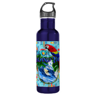 Island Time Surfing Water Bottle