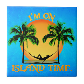 Island Time Small Square Tile