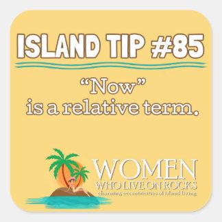 Island Tip #85 Sticker (yellow)