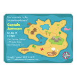Island Treasure Map, Pirate Birthday Party Announcement