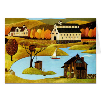 Island Treehouse Card