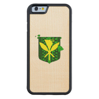 Island Tribal Kanaka Maoli Carved Maple iPhone 6 Bumper Case