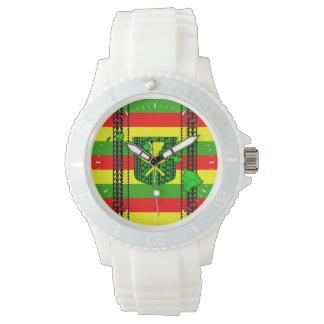 Island Tribal Kanaka Maoli Flag Wristwatch