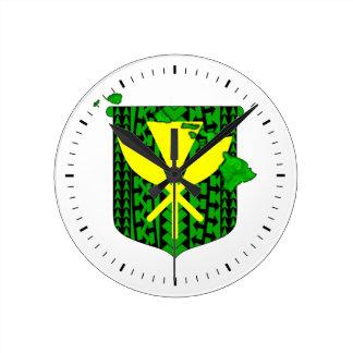 Island Tribal Kanaka Maoli Round Clock