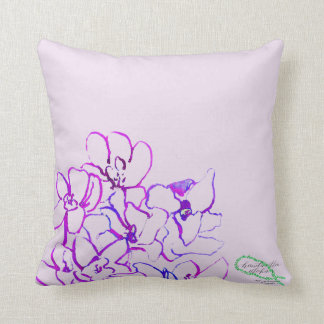 Island Tropical Orchid Pillow - Purple