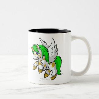 Island Uni flying over Mystery Island Two-Tone Coffee Mug