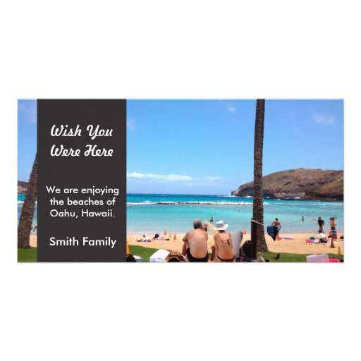Island Vacation Photo Greeting Card