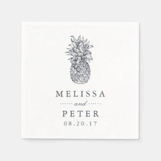 Island Vintage Pineapple Wedding Paper Napkin