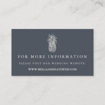 Island Vintage Pineapple Wedding Website Enclosure Card