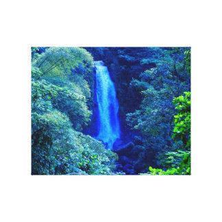 Island Waterfall Canvas Print