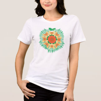 Island Wreath t-shirt orange/yellow