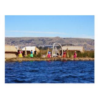 Islanders of Uros Postcard