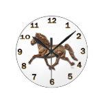 Islandés de bronce reloj de pared
