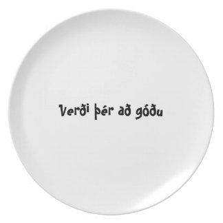 Islandés de la placa del appetit del Bon - góðu de Plato De Comida