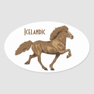islandés del vintage de los años 30 pegatina de óval personalizadas