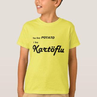 "Islandés Kartoflu ""usted dice la patata "" Remeras"