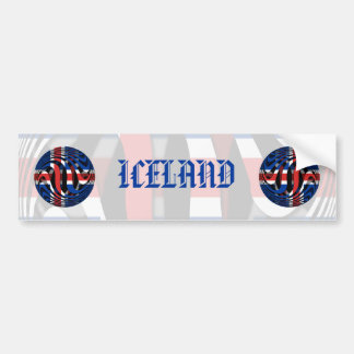Islandia #1 pegatina para auto