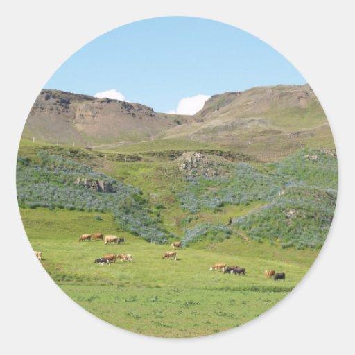 Islandia 3 pegatina redonda