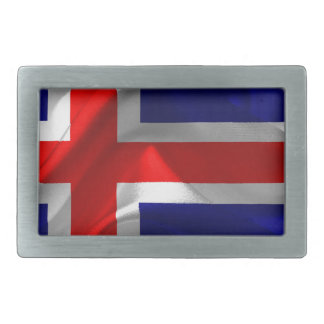 Islandia-Bandera Hebilla Cinturon Rectangular