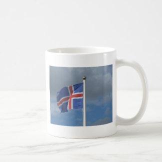 Islandia bandera taza de café