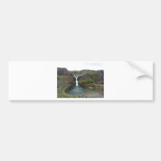 Islandia cascada pegatina para auto