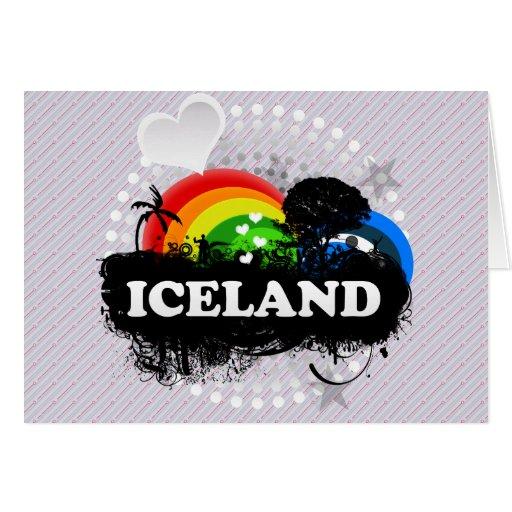 Islandia con sabor a fruta linda tarjetas