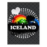 Islandia con sabor a fruta linda tarjetas postales