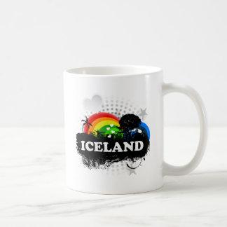 Islandia con sabor a fruta linda taza básica blanca