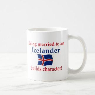 Islandia construye el carácter taza clásica