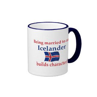 Islandia construye el carácter taza de dos colores