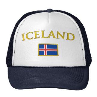 Islandia de oro gorras de camionero