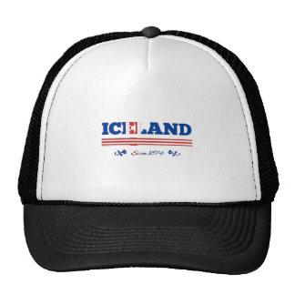 Islandia desde 1874 gorros bordados