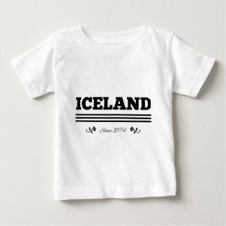 Islandia desde 1874 playera para bebé
