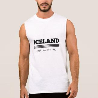 Islandia desde 1874 remeras sin mangas