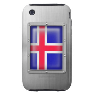 Islandia en acero inoxidable funda though para iPhone 3