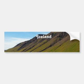 Islandia en primavera pegatina para auto