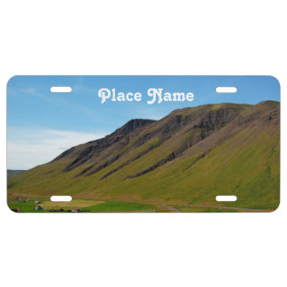 Islandia en primavera placa de matrícula