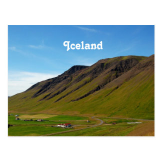 Islandia en primavera tarjeta postal