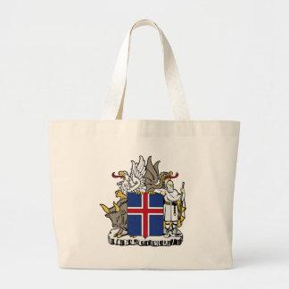 Islandia ES escudo de armas de Ísland Bolsa