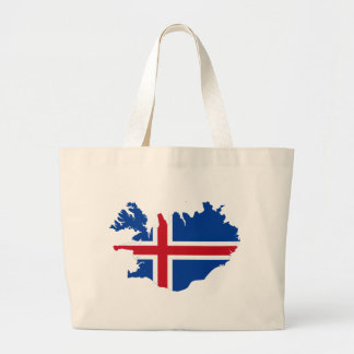 Islandia ES mapa de la bandera de Ísland Bolsa Lienzo