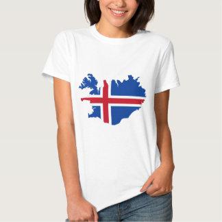 Islandia ES mapa de la bandera de Ísland Camisas