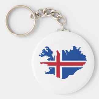 Islandia ES mapa de la bandera de Ísland Llavero Redondo Tipo Pin