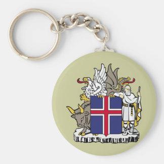 Islandia, Islandia Llavero Redondo Tipo Pin