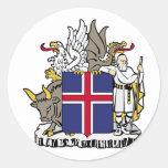 Islandia, Islandia Pegatina Redonda